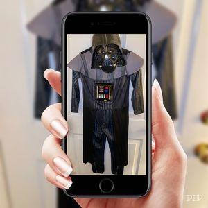 ✨Used Star Wars Darth Vader Costume w/Lights Sz M